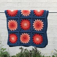 Baby Blanket for a Bassinet or Pram - Multicoloured