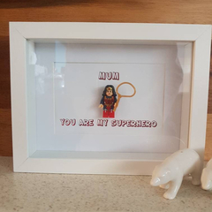 Personalise Custom Make Customised Supermum Mother's Day Mini Figure Shadow Box