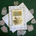 'Just Married' Wedding Card