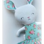 Custom made, made to order, handmade bunny with skirt and personalised