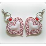 Handmade love heart key fob, available now, Australian made