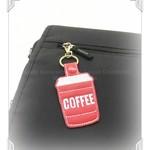 Coffee to go keychain, cute gift, ready to ship, Australian made