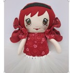Custom-made doll, doll shoes, knot bows, tutu, doll skirt, Dolls and Daydreams