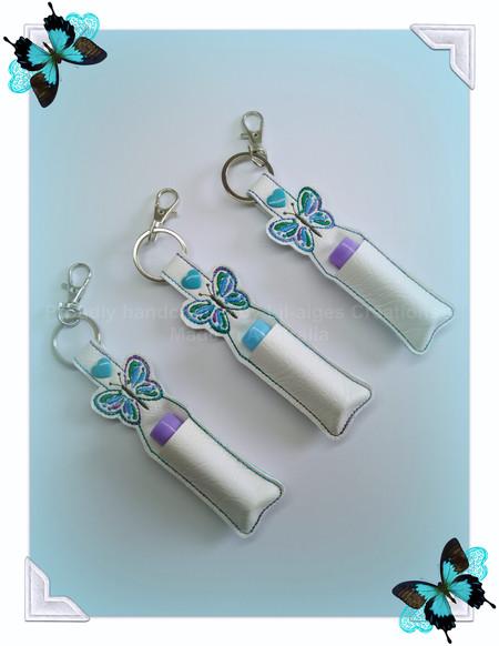 Butterfly Lip Balm Holder | Lip Balm Key Ring | Lip Balm Bag Tag