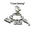 """I Love Sewing"" Keychain, Keyring Gifts for Mum, Gifts for Grandma"