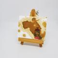 Headline Series : Aubree Original Tea Stain Art on Canvas
