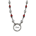 Red and Black glasses holder Necklace with Loop Mothers Day Gifts Glasses Chain