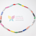 Paper Bead Kaleidoscope Necklace