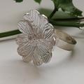 Silver Daisy Adjustable Ring