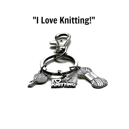 """""""I Love Knitting"""" Keyring, Keychain Gifts for Mum, Gifts for Grandma"""