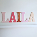 Wall or Door Name Plaque. 15cm. 5 letters.