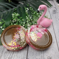 Coasters - PINK Buttons For Drink or as a Paperweight - PAIR - Resin