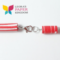 Paper Bead Red Necklace