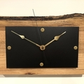 Solid Ash Timber Wall Clock with a unique natural rustic edge.