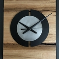 Solid Ash Timber and Satin Chrome Wall Clock.