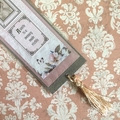 'A smile is a memory…' Pink on Grey Bookmark with Tassel
