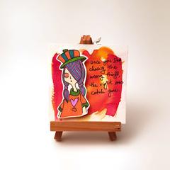 Headline Series : Arabella Original Ink on Watercolor Paper