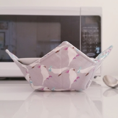 Hot Bowl Cozy | Hot Bowl Holder | Cockatoo | Reversible | Free Shipping