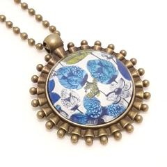 Modern Blue Floral