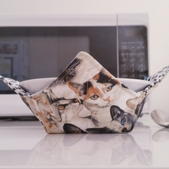 Hot Bowl Cozy | Hot Bowl Holder | Cats | Reversible | Free Shipping