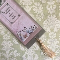 'The greatest blessing…' Pink on Grey Bookmark with Tassel