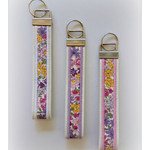 Colourful floral wristlet key fob