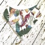 Tropical leaf bib - bandana style