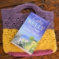 Crochet Tote Bag - Purple, Yellow & Pink