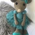 Crocheted Ballerina mouse 🐭