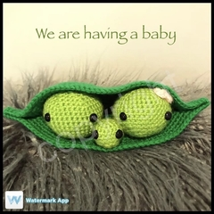 3 peas in a pod - Pregnancy announcement