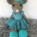 Crocheted Ballerina mouse 🐭
