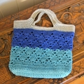 Crochet Tote Bag - Sand, Sea & Sky