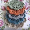 Handmade crocheted coasters - Set of 5