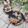 Purple Pop Glitter Fusion -Resin - Necklace - Jewellery - Earrings