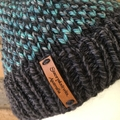 Knitted grey fair isle beanie, green teal beanie, beanie, Winter beanie grey