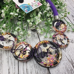 Purple Pop Glitter Fusion -Resin - Necklace - Jewellery - Earrings