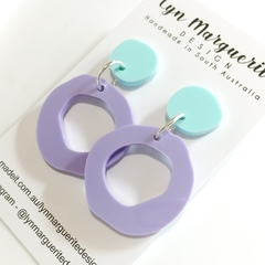 Purple & Aqua Pastel Dangles