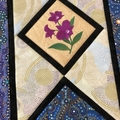 Australiana table runner - 'Cooktown Orchid'