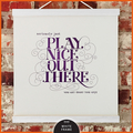 Wall Art Print with wooden hanger:  Play Nice