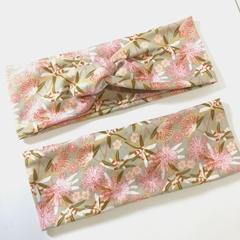 Sage & Pink Gum Blossom Headband