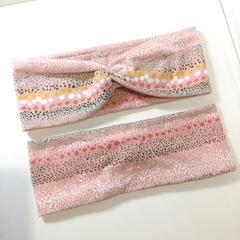 Pink Textured Dots Headband