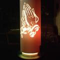 Praying Hands Tube Lamp