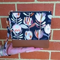 Protea - Wristlet with leather accent