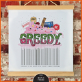 Wall Art Print with wooden hanger:  Don't Be Greedy
