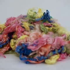 Mohair lockspun yarn
