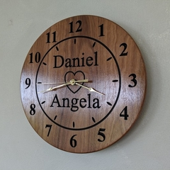 5th Anniversary Wooden Wall Clock, Wedding Gift, Engagement present