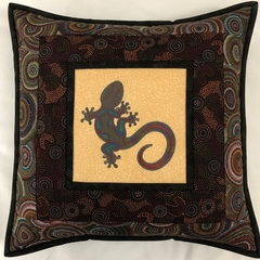 Australiana cushion cover - Gecko