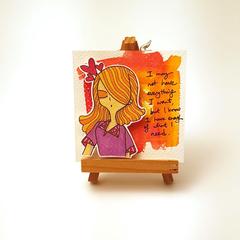 Headline Series : Selena Original Ink on Watercolor Paper
