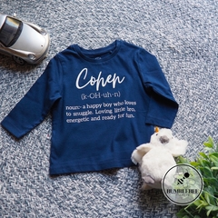 Kids Name Definition T-shirt.  Great Personalised Gift