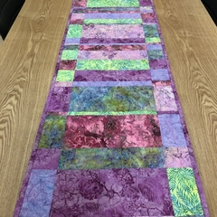 Pastel Shades Batik Table Runner